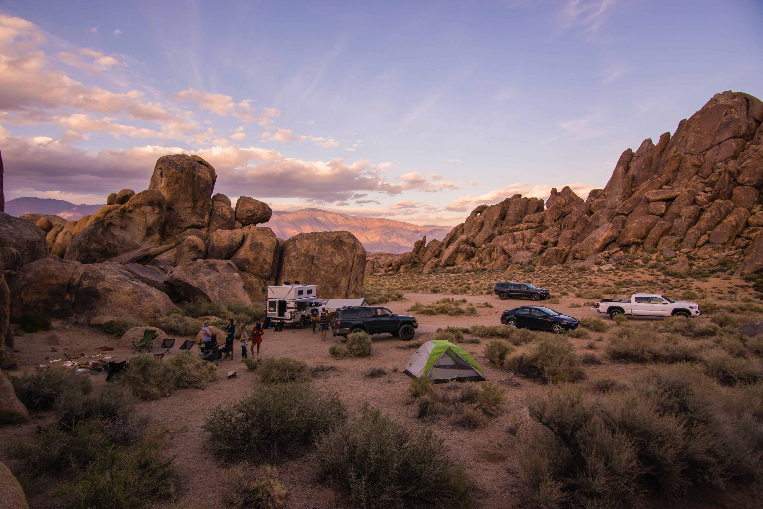 camping site in the desert