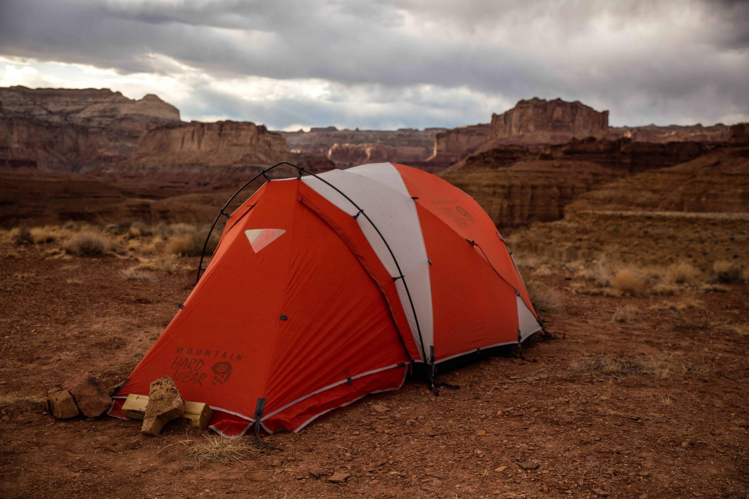 tent in a desert