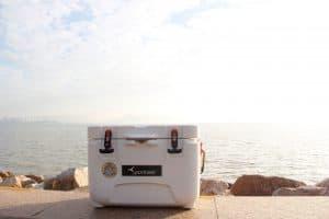 cooler on a beach
