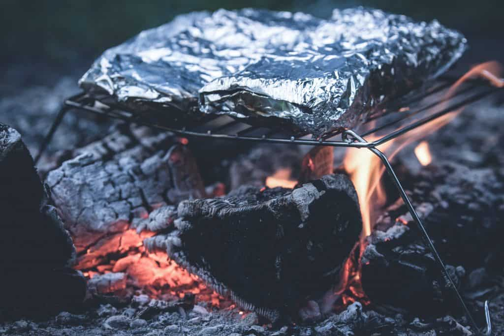 foil cooking on the campfire