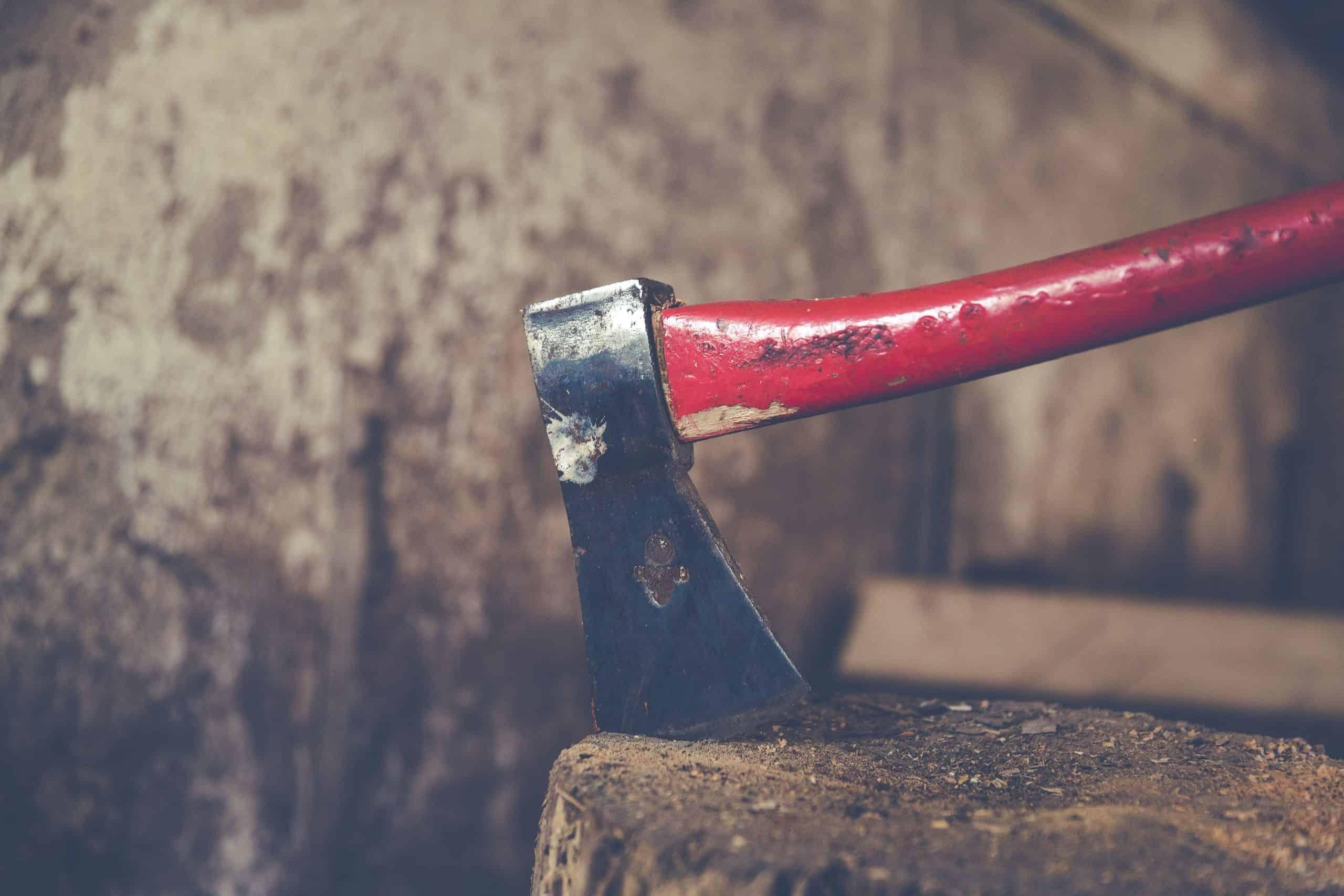 hatchet in a stump