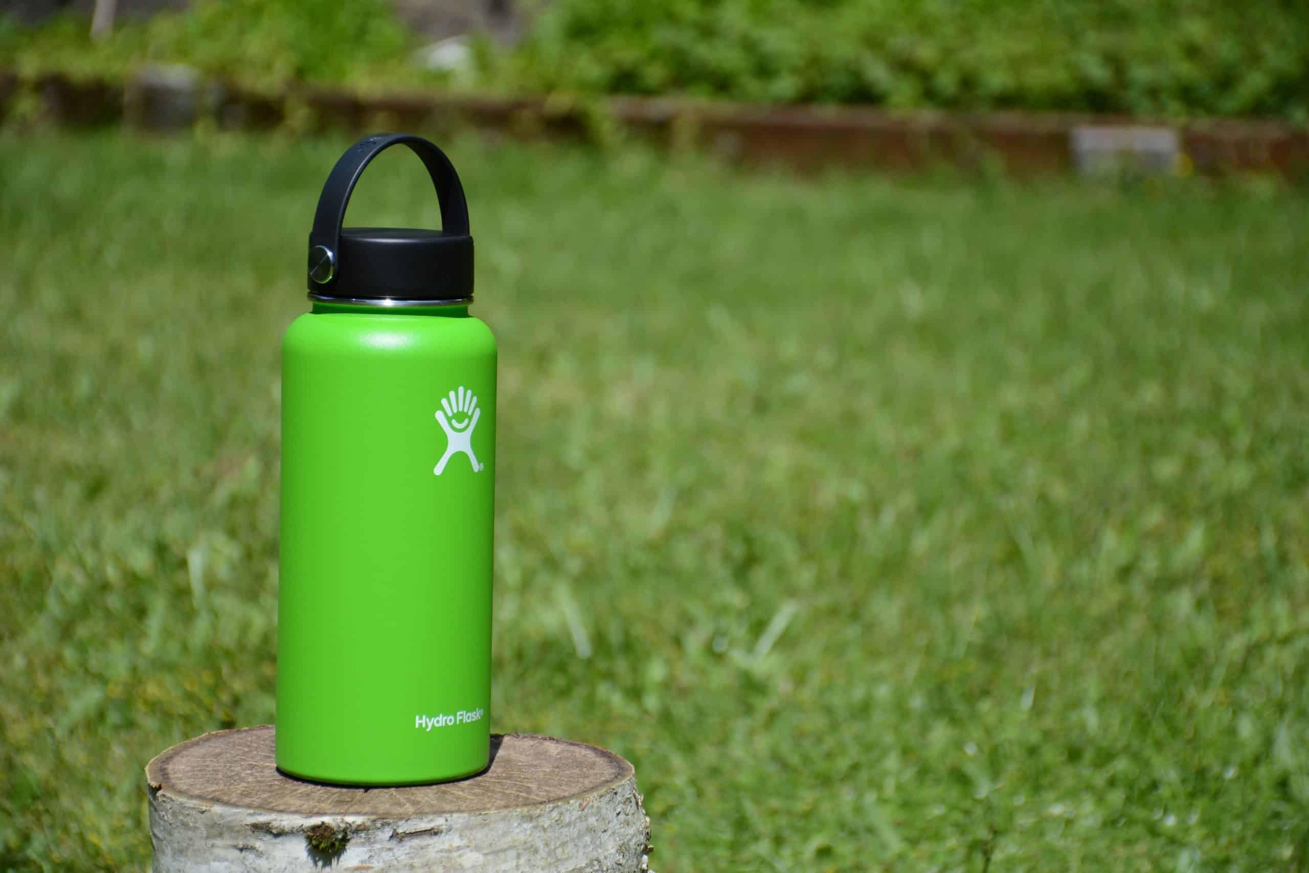 green hydro flask bottle