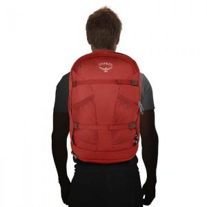 osprey farpoint 40 backpack on person