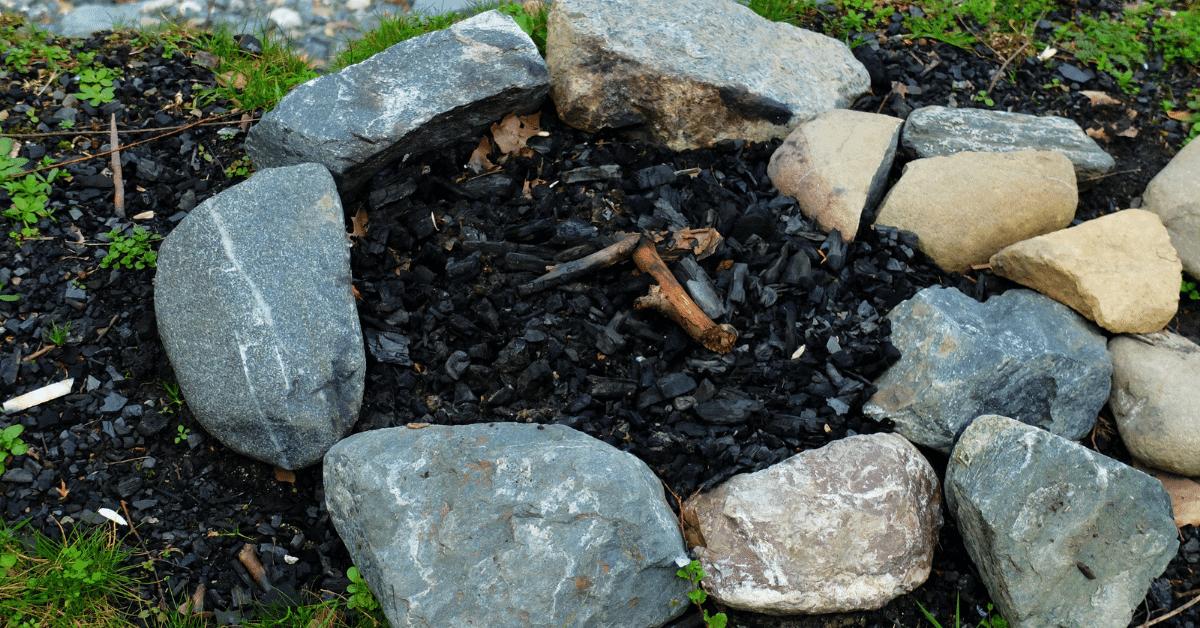 extinguished campfire