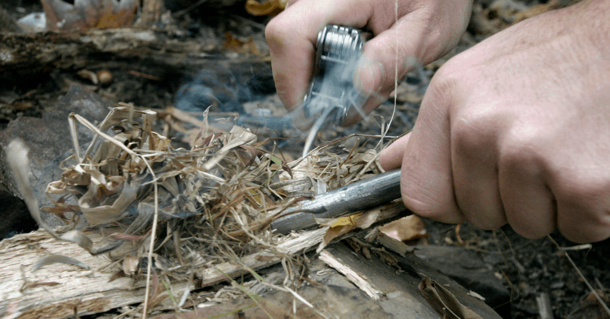 fire starter in action