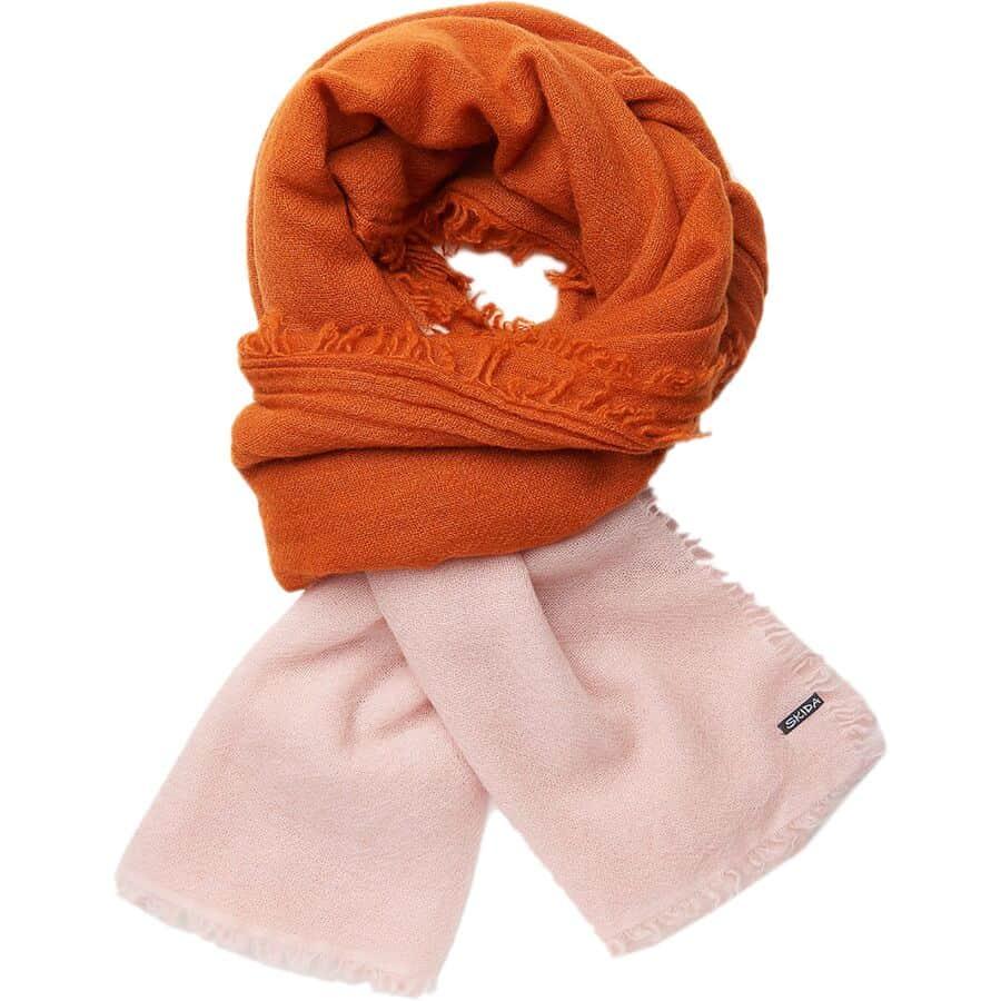skida dip-dyed cashmere shawl
