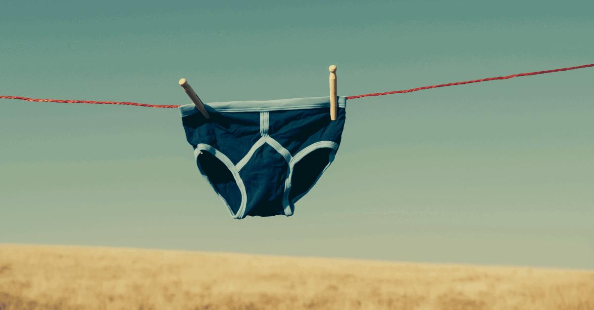underwear on a clothesline