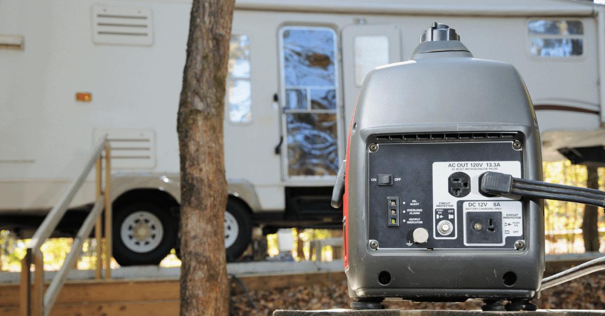 a generator near an rv