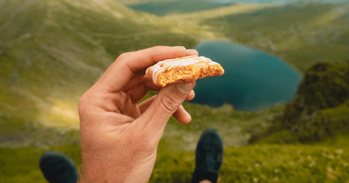 a snack bar on a hike