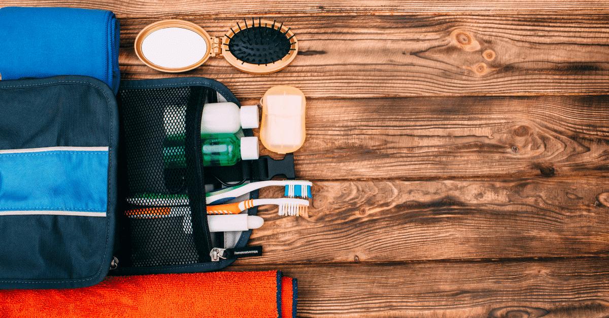 a travel hygiene kit
