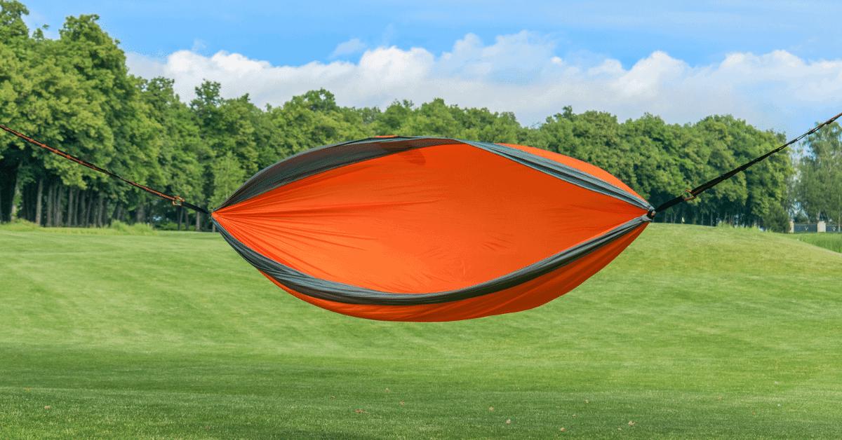 an orange hammock