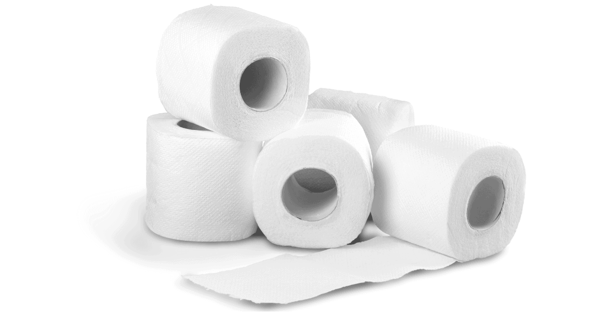 several toiler paper rolls