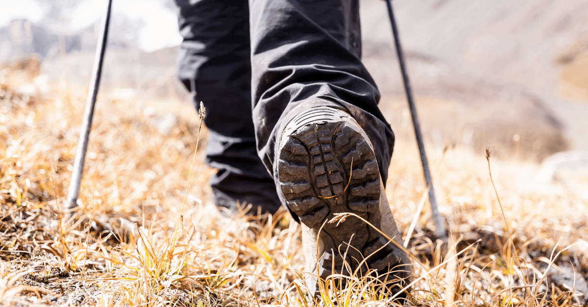 the heel of a hiking boot