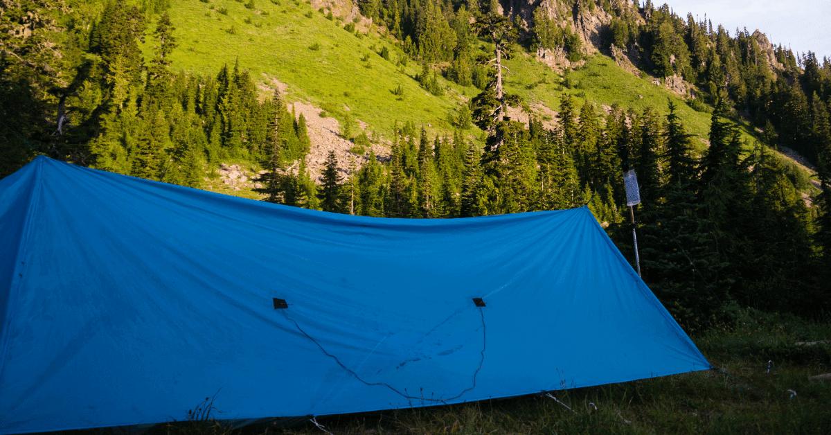 a diy tarp camping tent