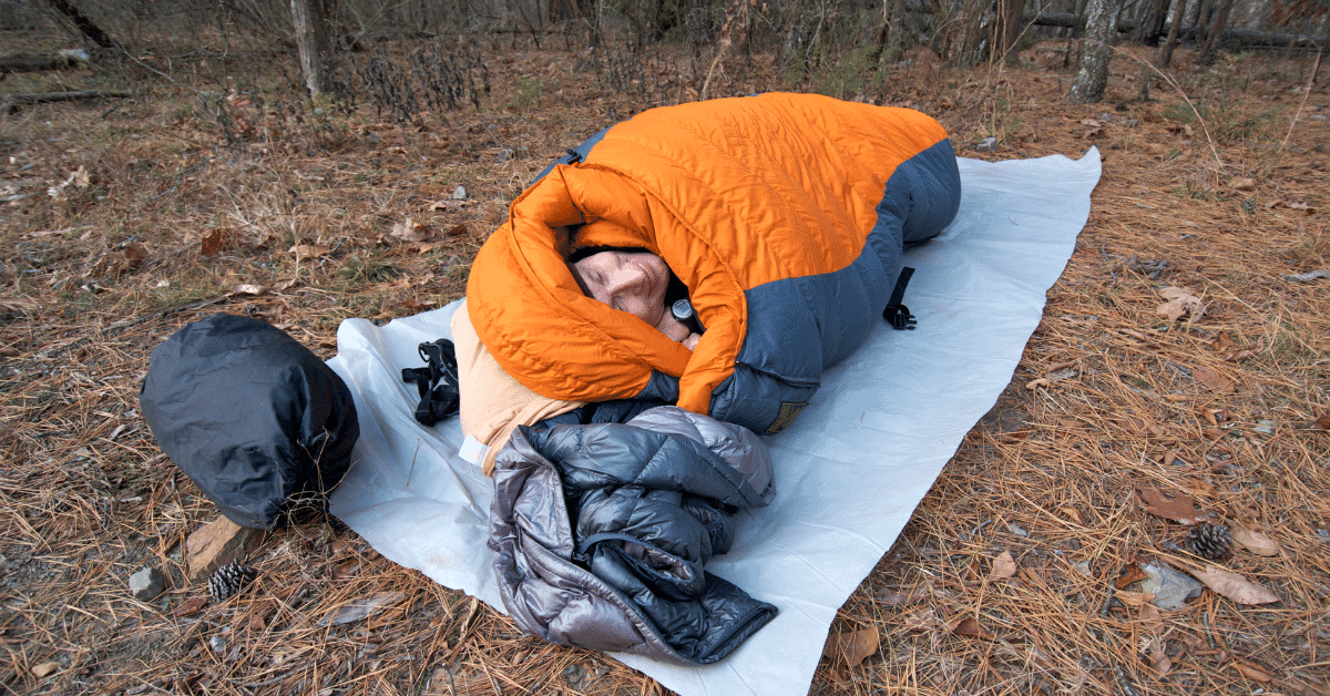 a man cowboy camping