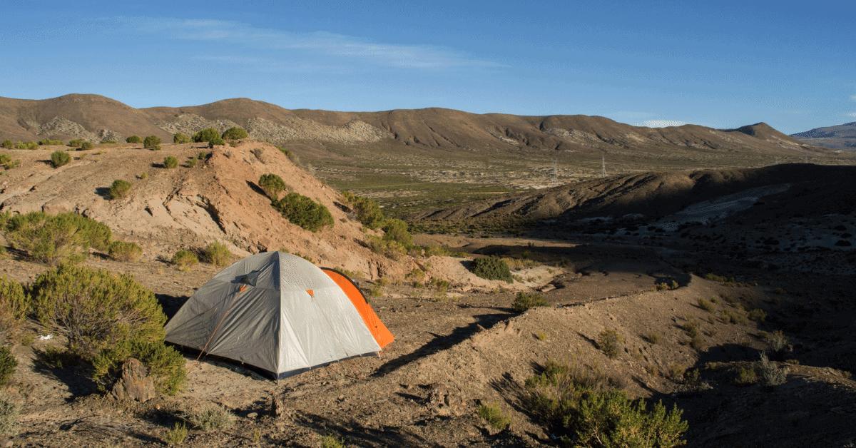 a wild camping campsite