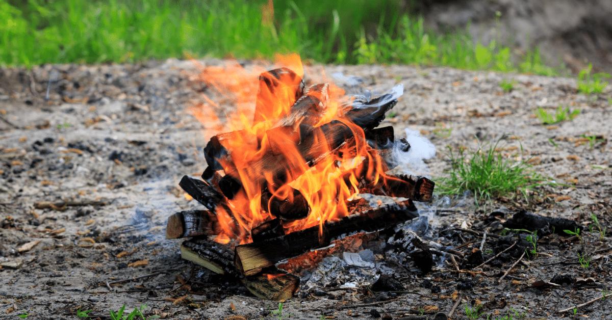 campfire burning