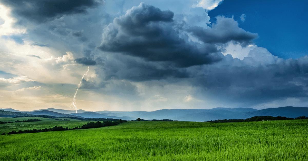 lightning bolts on the horizon