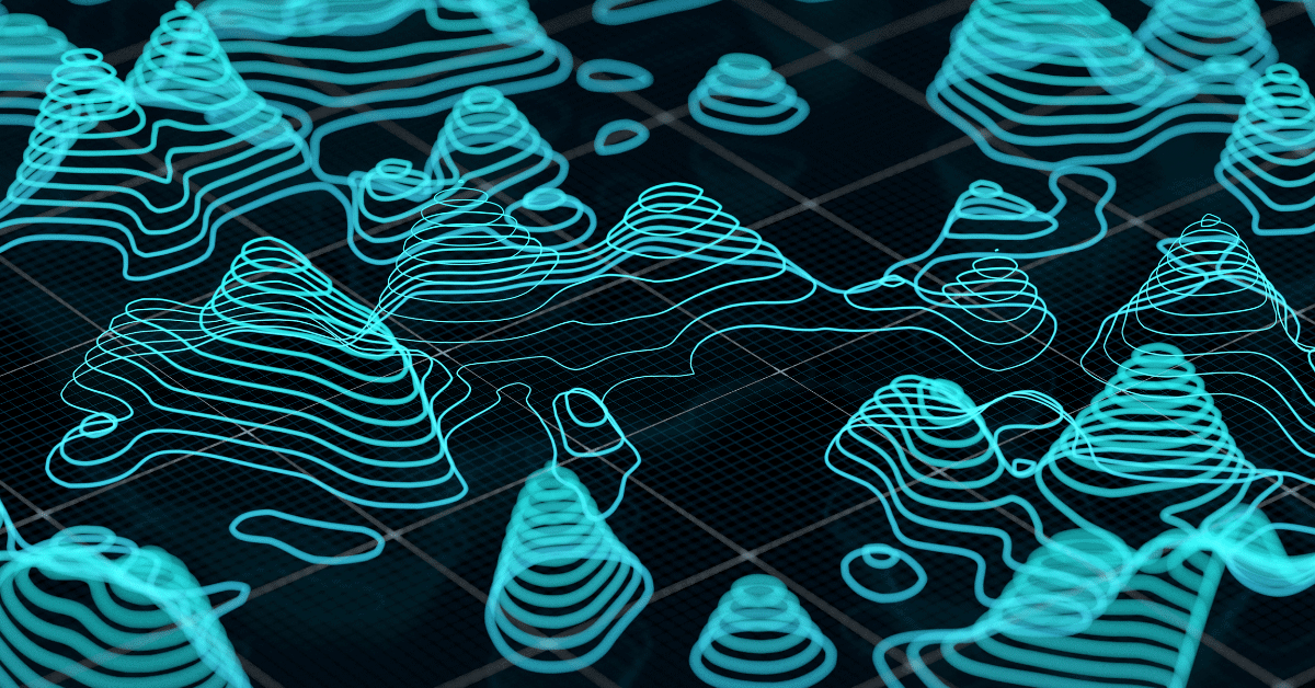 topographic map contour lines in 3d